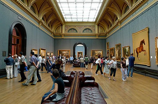 In kleiner Gruppe: National Gallery...