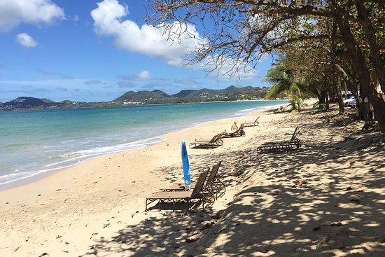 Vigie Beach Day med rundturstransport...