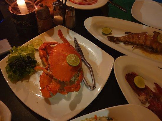 Amal Restaurant & Bar: Уже готовый краб