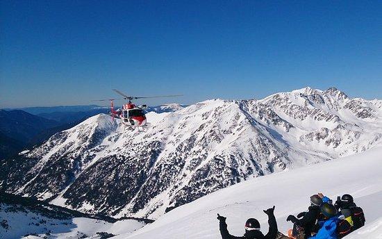 Heliesquí en Andorra