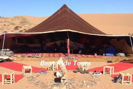 在阿加迪尔的沙漠中度过了一晚