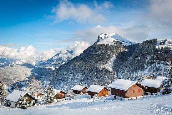 Lago de Lucerna Alpes invierno...