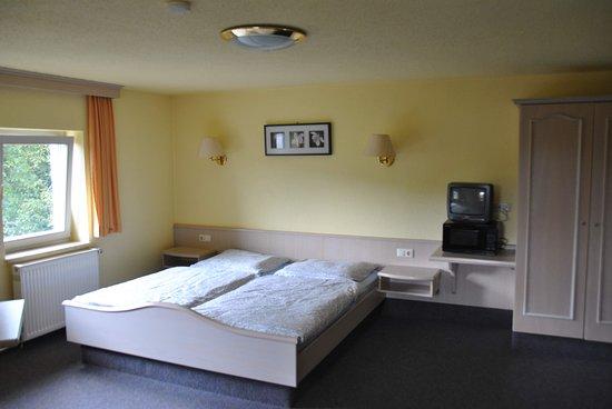Obereichstaett, Saksa: Die meisten Zimmer verfügen über Doppelbetten.