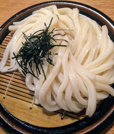 A yummy plate of cold udon noodles. Simplicity at its best.