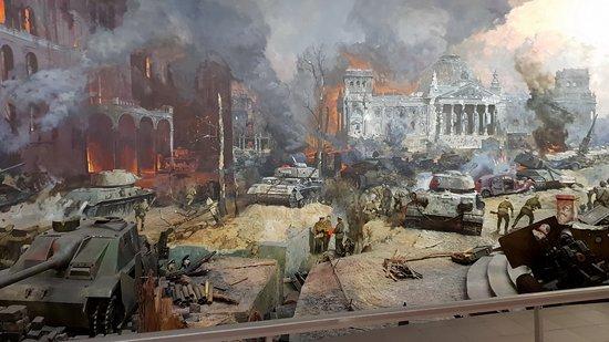 Musee de la Grande Guerre Patriotique: Панорама в Музее Победы.