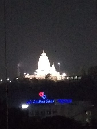 The famous while marble Birla Mandir seen from Temple View, a conference hall/Banquet in the 5th floor.