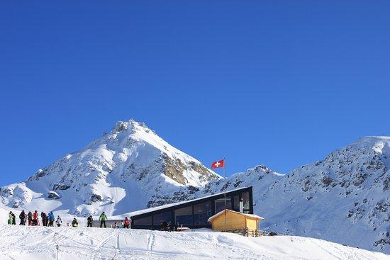 Anniviers, Swiss: Façade du restaurant