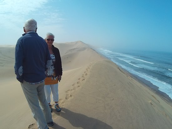 Walvis Bay, Namibia: Namib desert in the Sandwhich Harbour visit the two extremes comes together
