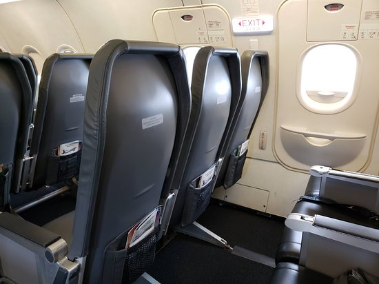 Frontier Airlines: Enmergency Row seats have in-seat trays.