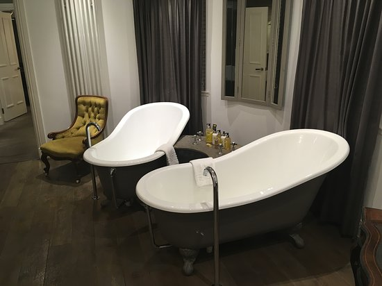 Gorgeous bathroom and amenities. Bed was really comfortable but this bathroom steals the show.