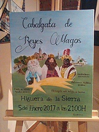 Higuera de la Sierra, España: Плакат-объявление, там их целая коллекция.