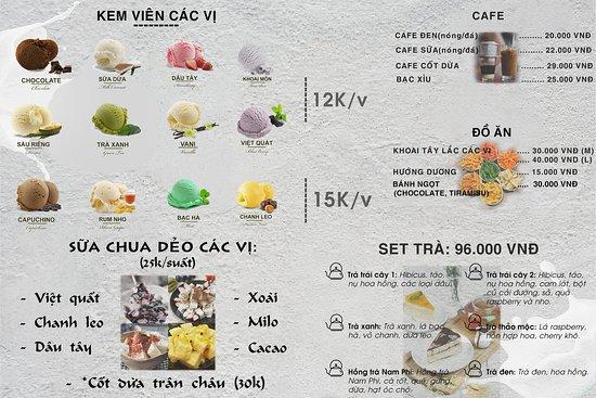 Тхань-Хоа, Вьетнам: Menu