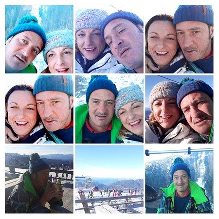 Валь-ди-Фьемме, Италия: Una montagna di neve in un mare di sole !!!! ALPE CERMIS