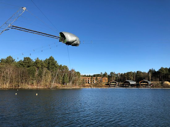 Center Parcs Elveden Forest: The Lake, overlooking the Waterside Lodges