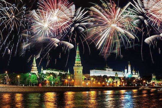 莫斯科河遊船與晚餐和活潑的煙火與私人指南