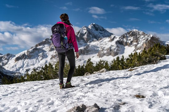 Winter hike in Julian Alps