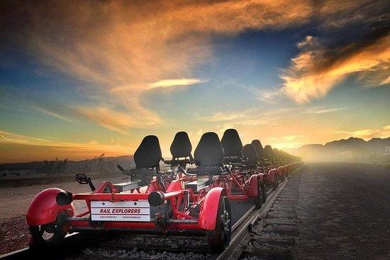 在内华达州博尔德城的沙漠铁路骑行和火车之旅