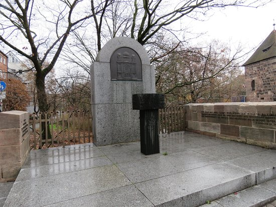 Gedenkstätte an der Nürnberger Hauptsynagoge