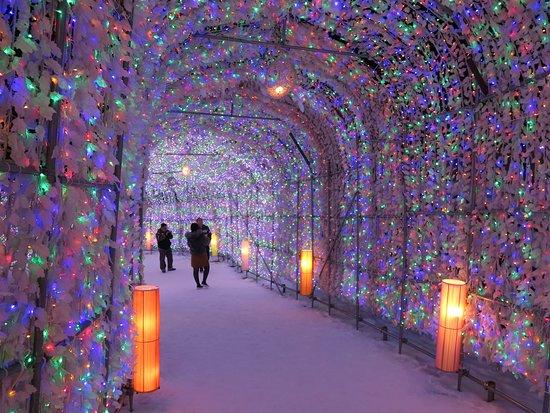 Toyako Onsen Illumination Tunnel