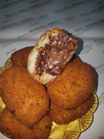 Canicatti, Italy: arancini alla nutella