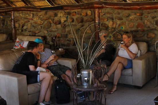 Touwsrivier, South Africa: Welcome Drinks before check-in