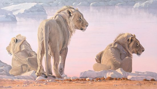 Swakopmund, Namibia: Okevi Boys - by award winning wildlife artist Paul Dixon