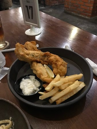 Baked & Brewed Coffee: Fish and chips