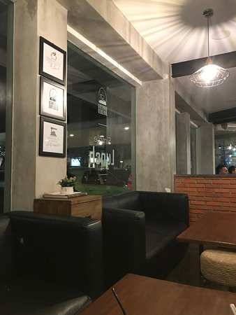 Baked & Brewed Coffee: comfy couch