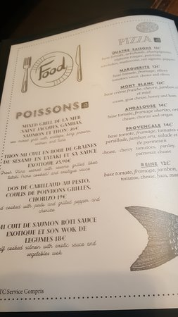 La Regence Café : carte
