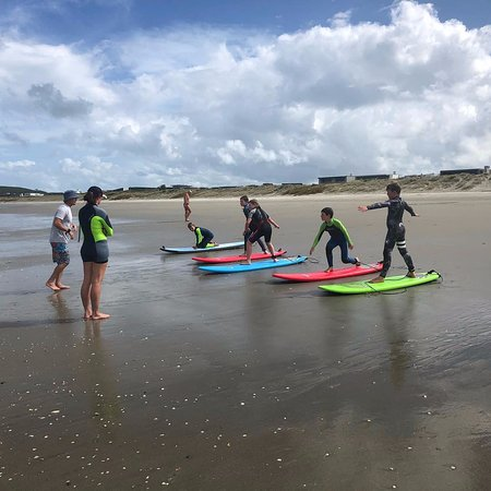 Summer Sessions surf lessons at Omaha Beach.