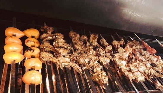 Chopan Kabob House: Chopan Kabobs on the Grill.