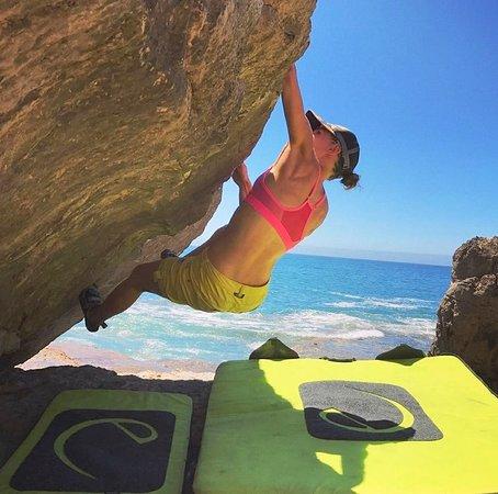 Isa, Rock Climbing teacher training.