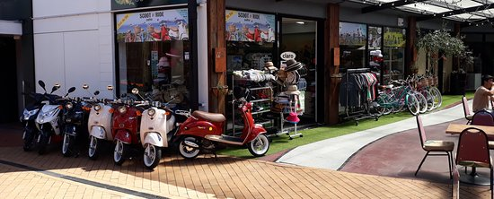 Awesome scooter hire business in the Paihia Lanes!