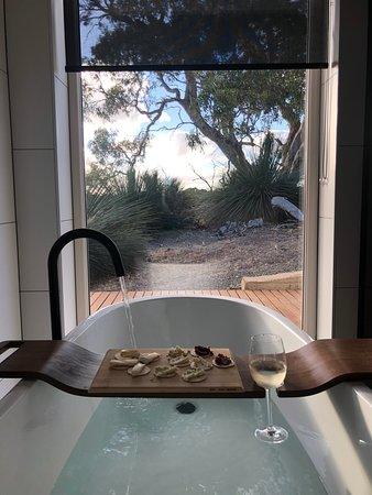 Seddon, Australia: View from the bathroom