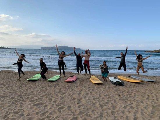 Surfing Crete
