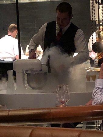 Dinner by Heston Blumenthal: The ice cream machine 3.