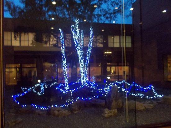 โรงแรมโทคาจิ มาคุเบตสึ ออนเซ็น แกรนด์วริโอ: 中庭の夜景