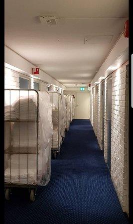 The hallway towards my room