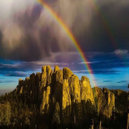 Bavarian Inn, Black Hills: Thunderstorms are beautiful in the Black Hills.  The Cathedral Spires look stunning in a post storm glow ✨Discover our magic✨ 📸: Matthew Lynn