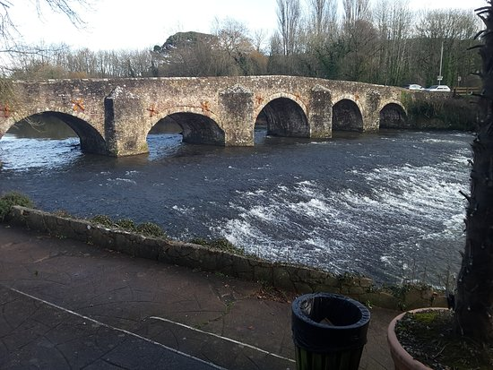 Bickleigh, UK: Scenery outside the restaurant