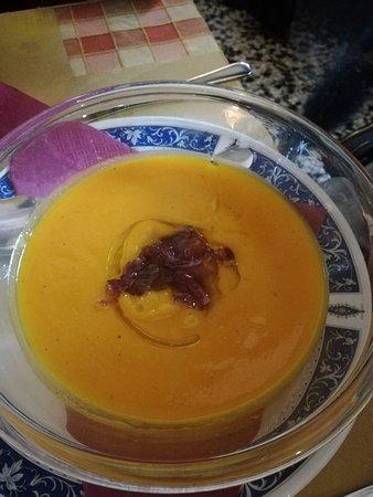 crema di zucca con cipolla