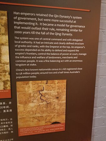 Information on signs in the museum