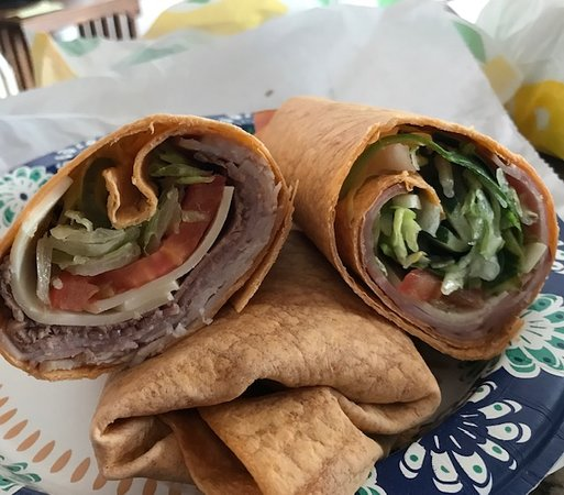 Knoxville, IA: Casey's on the left, Subway on the right.  More meat and cheese on the Casey's wrap.  Less veggies but that's because wife asked for more on the Subway wrap.