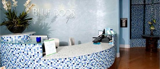 Front Reception at Blue Door Spa and Salon.