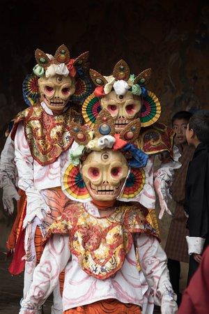 Masked Festival Dancers, Jakar Bumthang