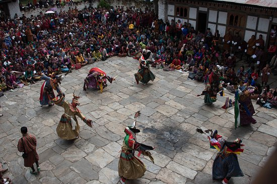 Festival Dancers, Bumthang District