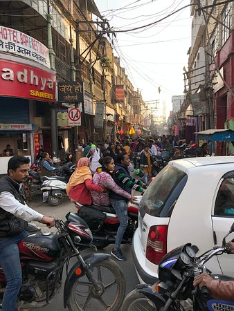 Kashi Journeys: We followed our guide through this traffic!
