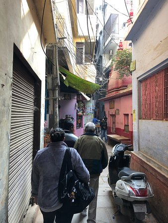 Kashi Journeys: Following Rajeev to our hotel.