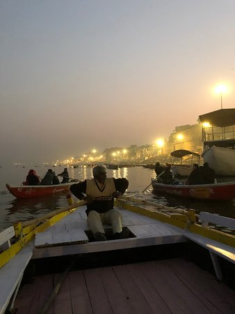 Kashi Journeys: Sunset, and torches lit.