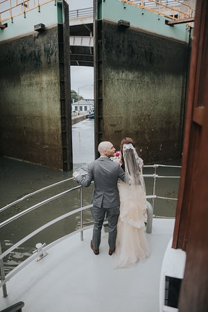 Watching the locks open..amazing experience